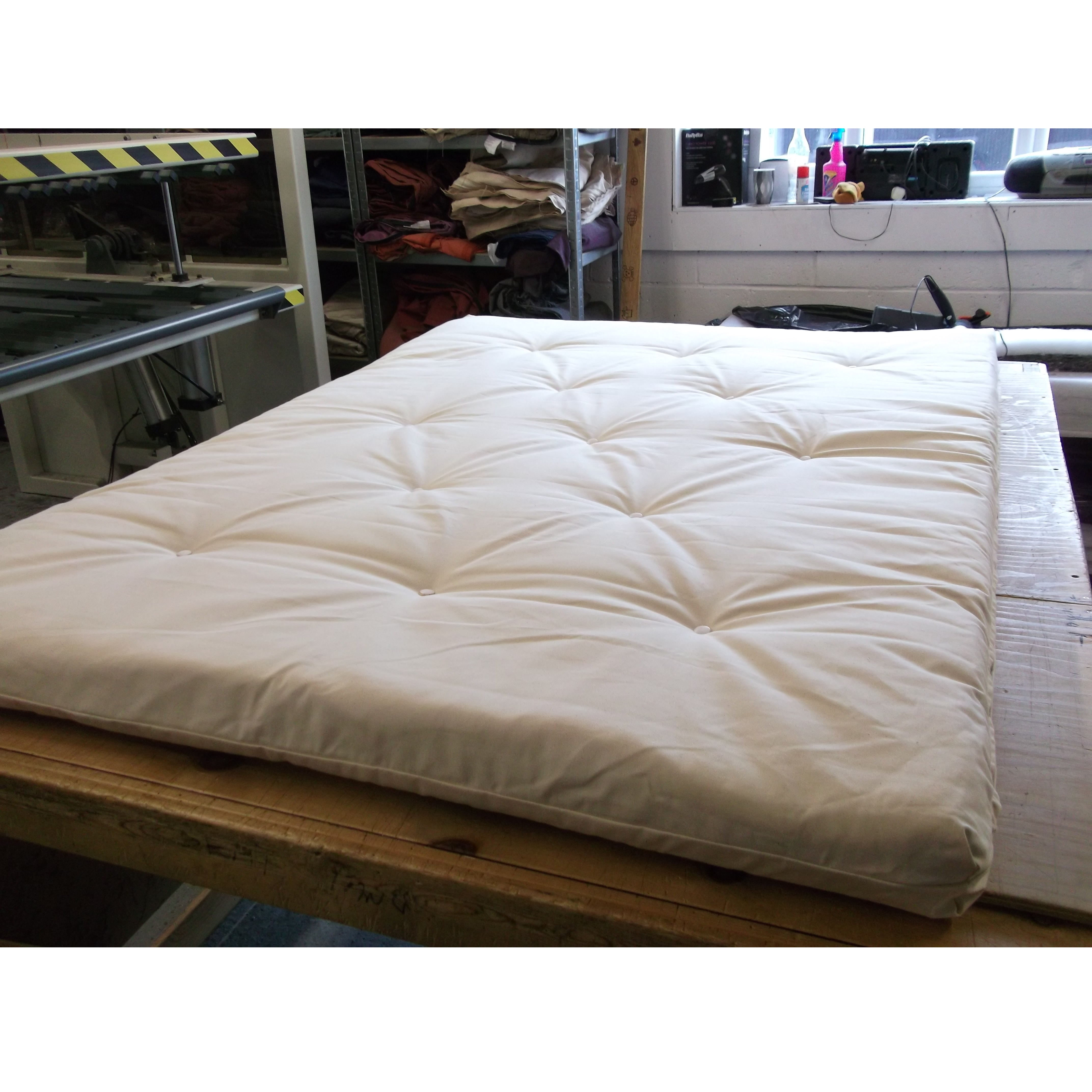Monk futon roll large single or double roll up futon for Where to shop for mattresses
